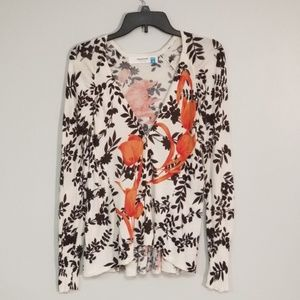 Anthropologie   Sparrow Floral Button Up Cardigan